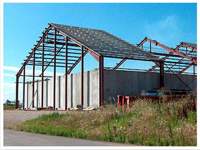 Cmr constructions m talliques du renon bourg en bresse - Calcul d un hangar en charpente metallique ...